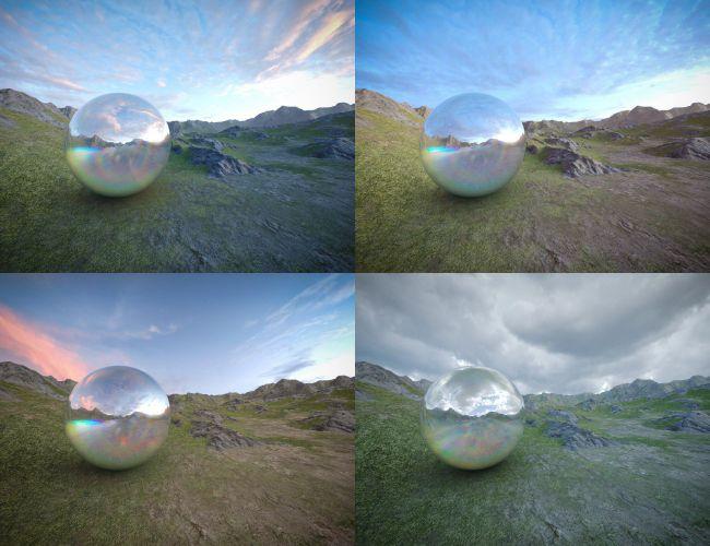 Skies of Gaia - 20 8k HDRI Skies with Pre-Rendered Terrain