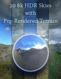 Skies of Gaia - 20 8k HDRI Skies with Pre-Rendered Terrain for Iray
