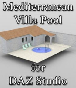 Mediterranean Villa Pool for DAZ Studio