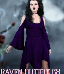 dforce- Raven Dress- Genesis 8
