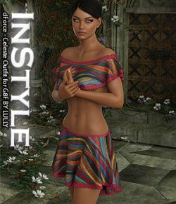 InStyle- dForce- Celeste Outfit for G8F