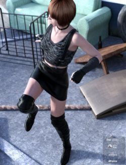 dForce Street Rogue Outfit for Genesis 8 Female(s)