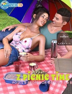 Z Picnic Time Props and Poses for Genesis 3 and 8
