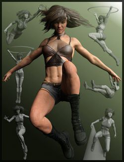 Gravity in Action Poses for Genesis 3 and 8 Female