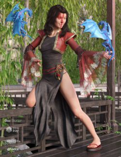 dForce Dragon Lady Outfit for Genesis 8 Female(s)