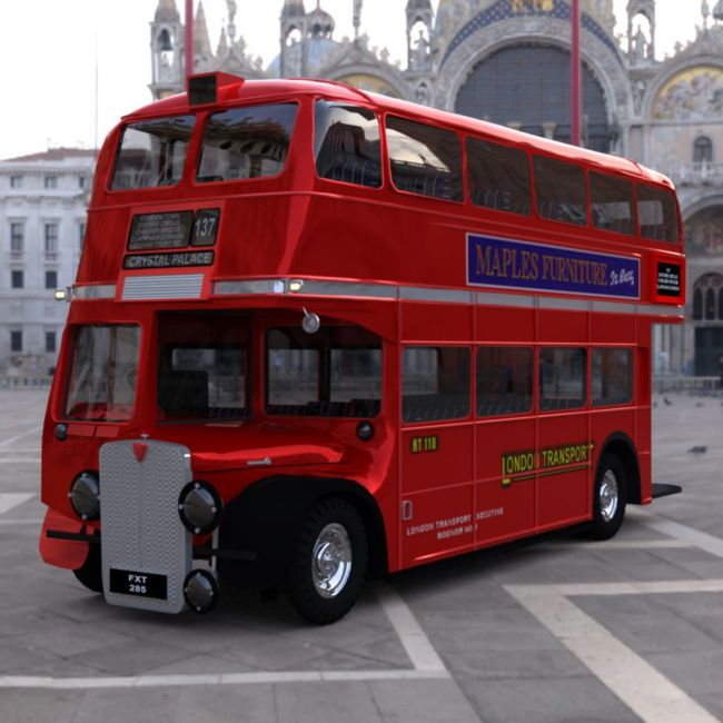 Bus AEC London for DAZ Studio