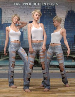 Fast Production Poses for Genesis 3 and 8 Female