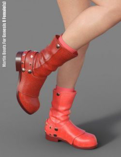 Martin Boots For Genesis 8 Female(s)