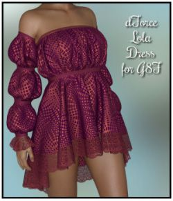 dForce - Lola Dress for G8F