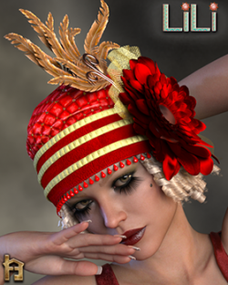 Lili 1920's Flapper Cloche Hat