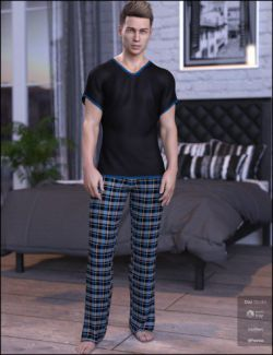 dForce Chill Pajamas for Genesis 8 Male(s)