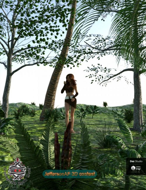 Variety Tropical Subtropical Trees and Plants