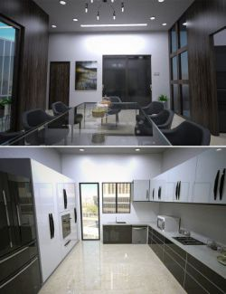 High Rise Kitchen and Dining Room