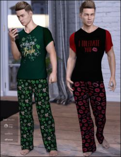 dForce Chill Pajamas Textures