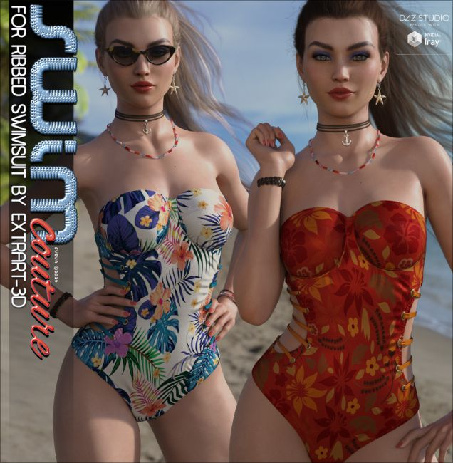 SWIM Couture for X-Fashion Ribbed Swimsuit