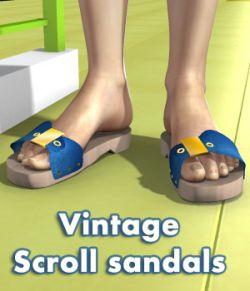 Vintage Scroll Sandals