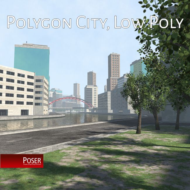 Polygon City, Low Poly for Poser