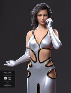 dForce Starlet Dress for Genesis 8 Female(s)