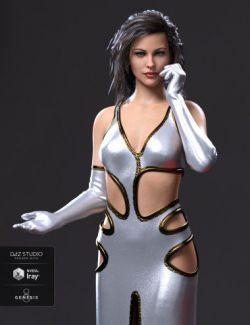 dForce Starlet Dress for Genesis 8 Female(s)
