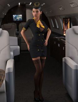 Sexy Stewardess Outfit for Genesis 8 Female