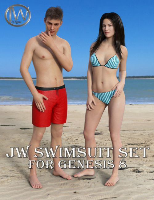 JW Swimsuit Set for Genesis 8