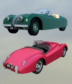 JAGUAR XK120 OBJ/FBX EXTENDED LICENSE