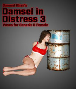 Samuel Khan's Damsel in Distress Poses 3 for G8F
