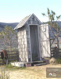 Wild West Outhouse