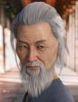 Nikan Hair and Beard for Genesis 3 & 8 Male(s)