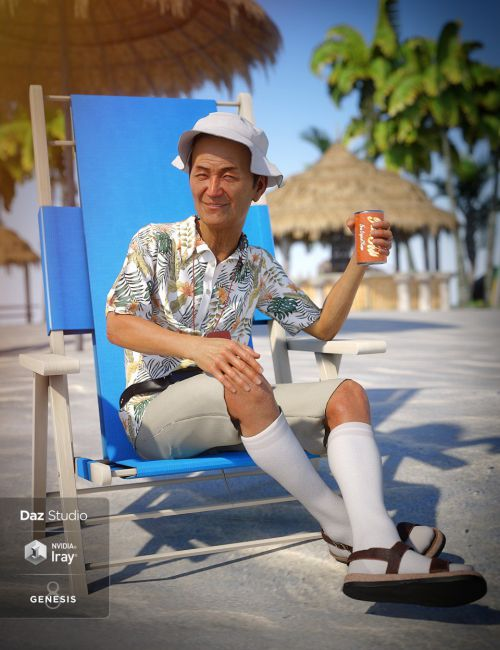 dForce On Vacation Outfit for Genesis 8 Male(s)