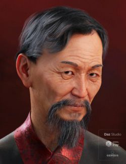 Jian Hair for Genesis 3 and 8 Male