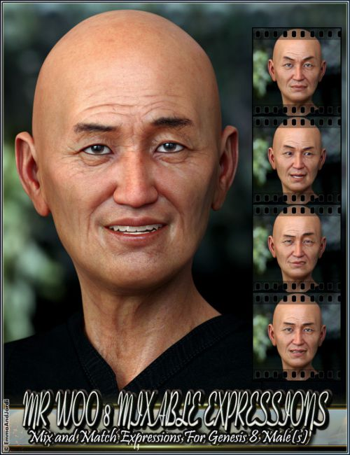 Mixable Expressions for Mr Woo 8 and Genesis 8 Male(s)