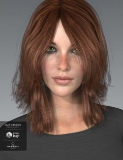 Shiloh Hair for Genesis 3 and 8 Female(s)