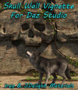 Skull Wall Vignette For Daz Studio Iray and 3Delight