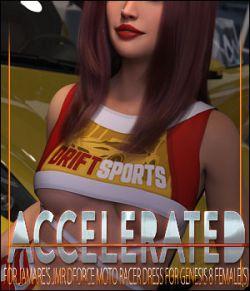 Accelerated for JMR dForce Moto Racer Dress  for Genesis 8 Females