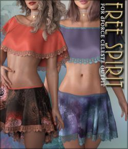 Free Spirit for dForce Celeste Outfit