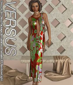 VERSUS- Dress of Slit Dress Package for Genesis 8 Females