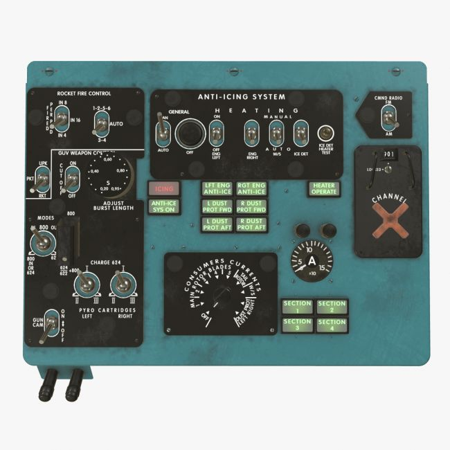 Mi-8MT Mi-17MT Left Overhead Panels Board English 2  - Extended License