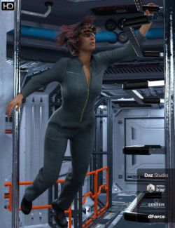 dForce Space Tech Utility Jumpsuit for Genesis 8 Female(s)
