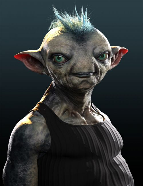 Mervin the Alien HD for Genesis 8 Male