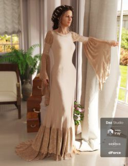 dForce Rochelle Gown for Genesis 8 Female(s)