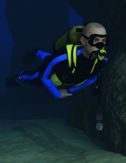 Scuba Gear for Genesis 3 Male