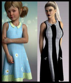 dForce Quadra Dress for Genesis 8 Female