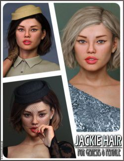 Jackie Hair For Genesis 8 Female(s)