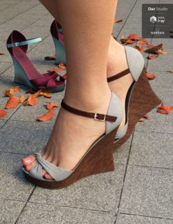 Kiru Wedge High Heels for Genesis 3 and 8 female(s)