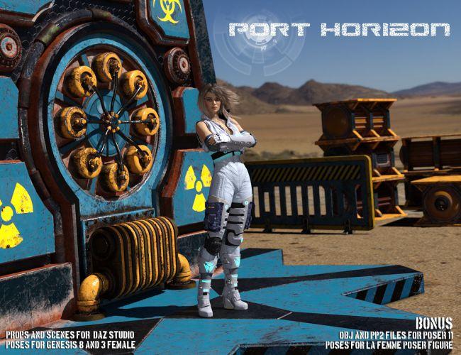 Port Horizon for Poser and DazStudio
