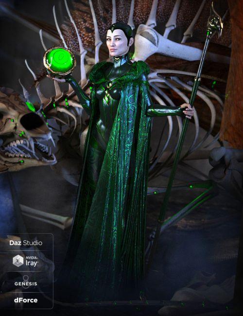 dForce Bone Conjurer Outfit for Genesis 8 Female(s)