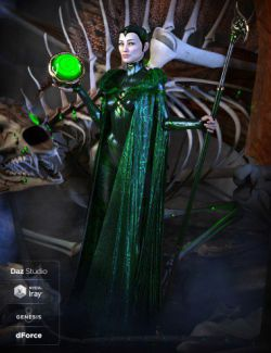 dForce Bone Conjurer Outfit for Genesis 8 Female(s)