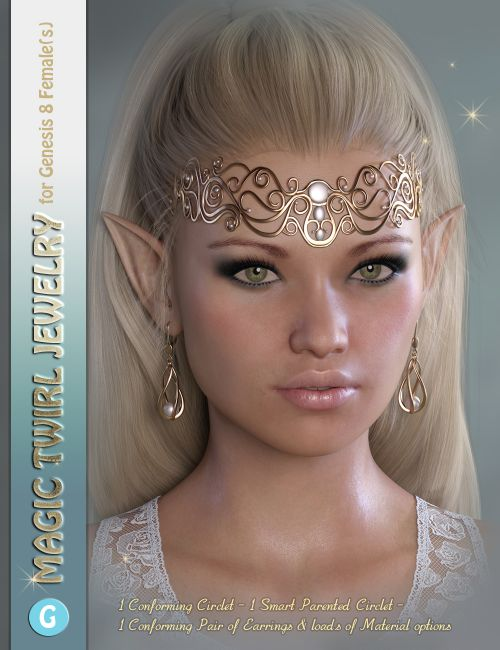 GDN Magic Twirl Jewelry for Genesis 8 Females