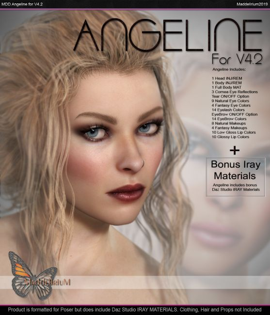 MDD Angeline For V4.2 + Bonus IRAY Materials